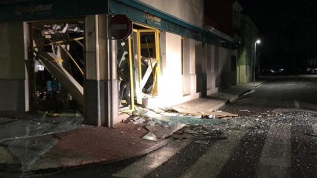 Así quedó uno de los últimos cajeros explosionados en la Comunidad Valenciana el pasado mes de octubre