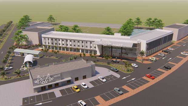 El hotel tendrá 80 habitaciones, una piscina olímpica y un campo de fútbol de césped natural