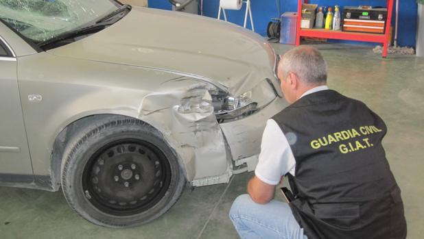 La Guardia Civil localizó el vehículo implicado en un taller de Villamartín