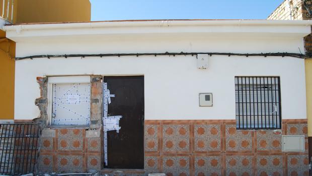 Número 168 de la calle Cerro Blanco donde fueron hallados los cuerpos de las víctimas del triple crimen