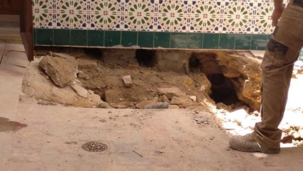 Caos en los juzgados de Marchena tras hundirse parte del suelo