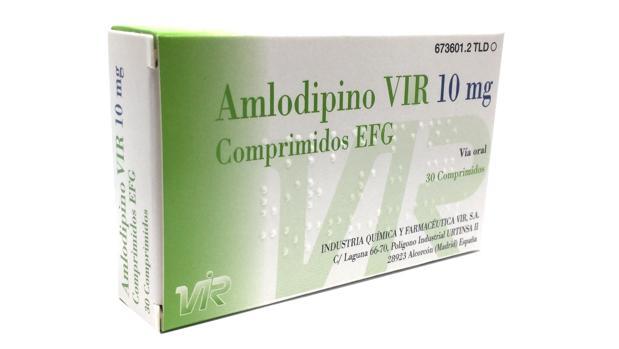Sanidad ha retirado un lote de Amlodipino VIR 10 mg por un error en la fecha de caducidad