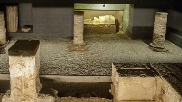 La cripta del Patio de Banderas