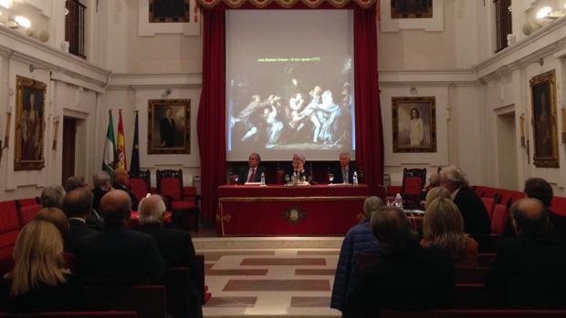 Un momento de las conferencias en la Real Academia de Medicina de Sevilla