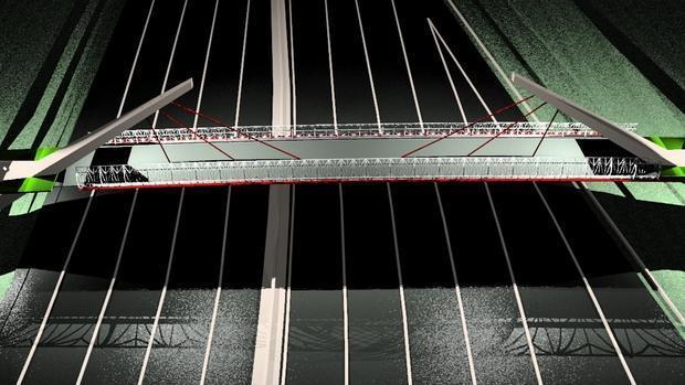Proyecto de la pasarela ciclista sobre la SE-30