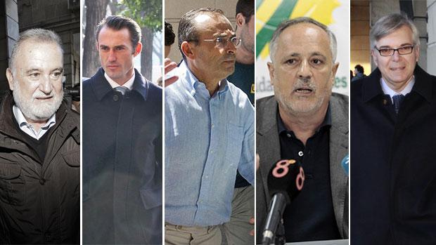 Algunos de los implicados en la trama de Fitonovo que se sentarán en el banquillo