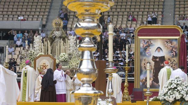 Beatificación de Madre María de la Purísima en el Estadio de la Cartuja