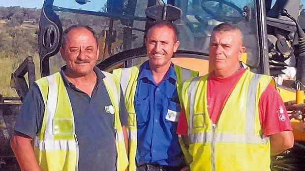 Los tres trabajadores que encontraron el tesoro de Tomares