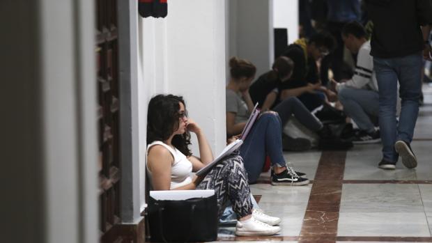Uno de los pasillos de la Universidad de Sevilla