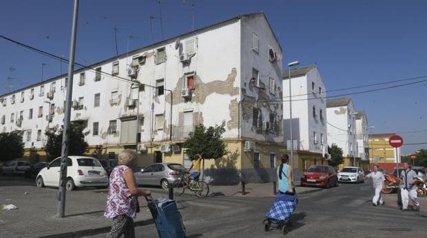Bloques de pisos de la barriada de Los Pajaritos