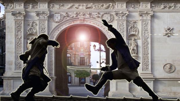 Duelo entre un monje y Pedro I