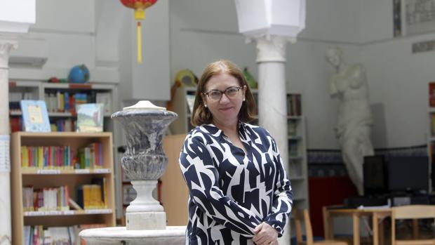 Rebecca Hughes en el colegio San Francisco de Paula