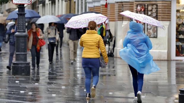 Los sevillanos no podrán soltar el paraguas hasta el jueves