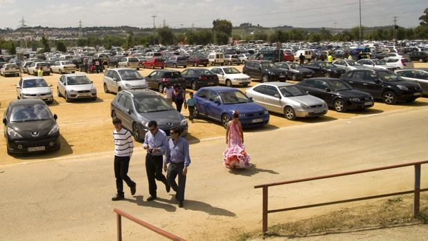 Plazas de aparcamiento en el Charco de la Pava