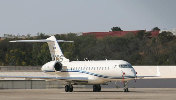 Un avión privado