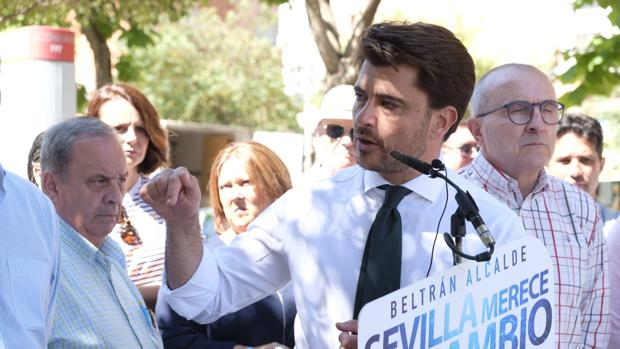 El alcaldable del PP, Beltrán Pérez