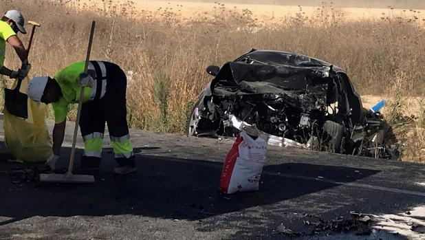 Un accidente de tráfico en una imagen de archivo