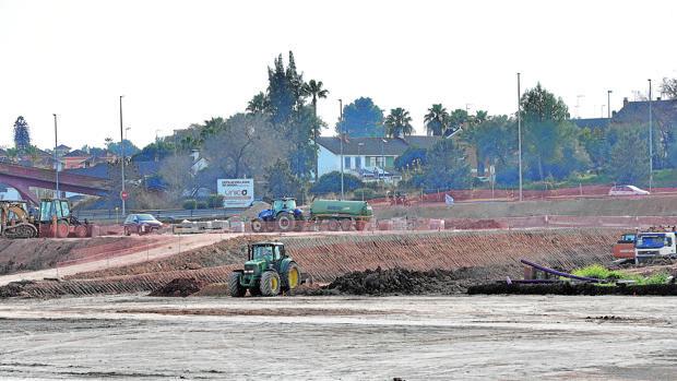 Terrenos en el polígono Megapark en Dos Hermandas, donde se construirá el centro logístico
