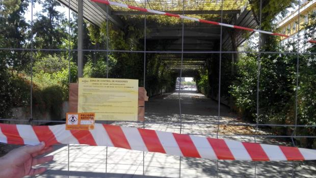Actuación del Zoonsanitario municipal en los jardines de Cristina
