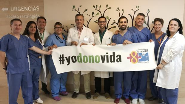 Equipo de coordinación de trasplantes del Hospital UniversitarioVirgen Macarena