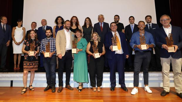 Los galardonados en esta octava edición de los Premios Web de ABC de Sevilla