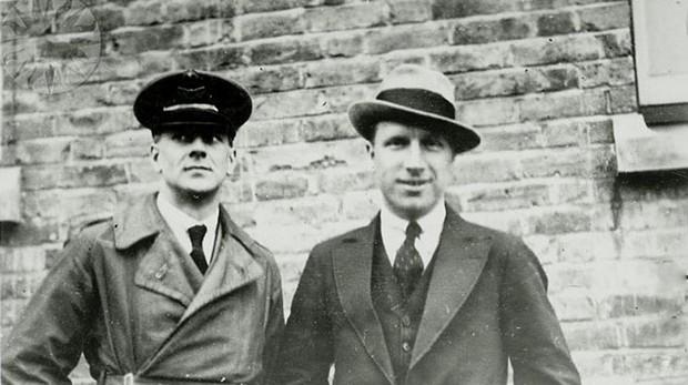 Arthur Whitten Brown y John Alcock in 1919